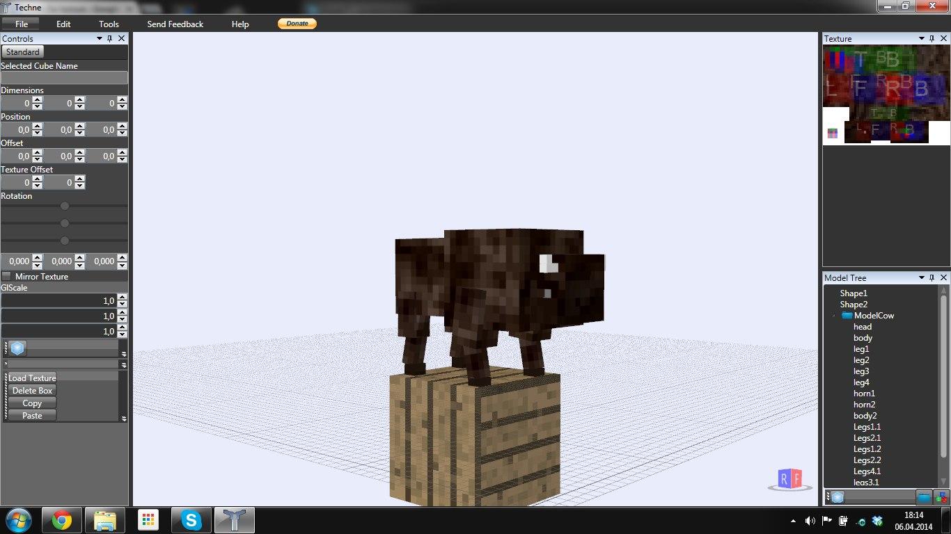 3ds max minecraft bison