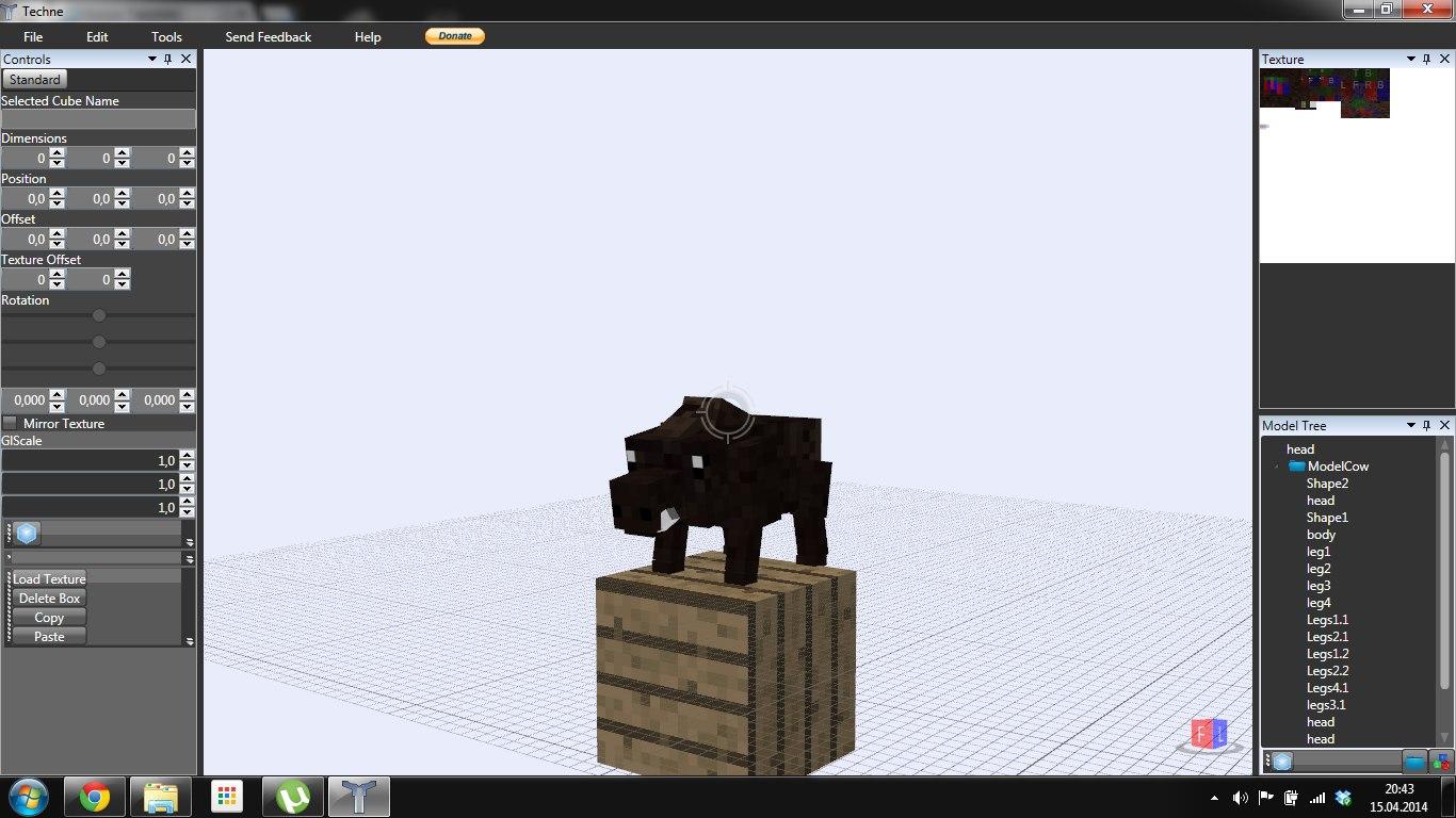 3ds Max Minecraft Boar