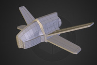 free small space fighter 3d model