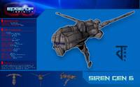 3d model electronic frigate