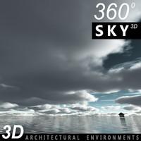Sky 3D Clouded 009