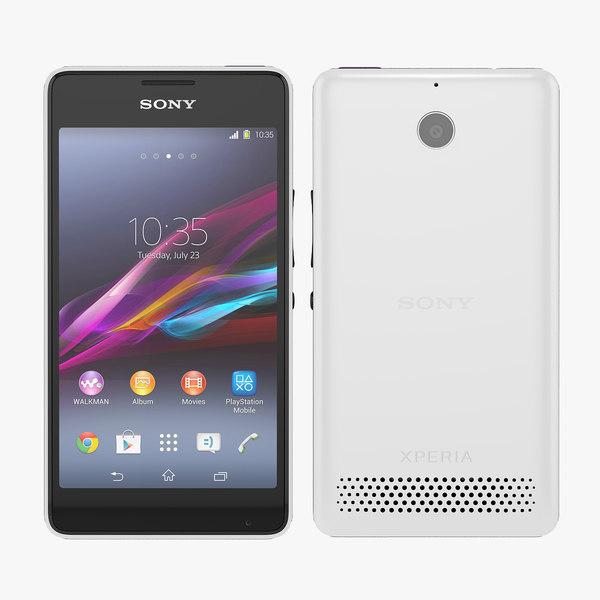3d sony xperia e1 smartphone model