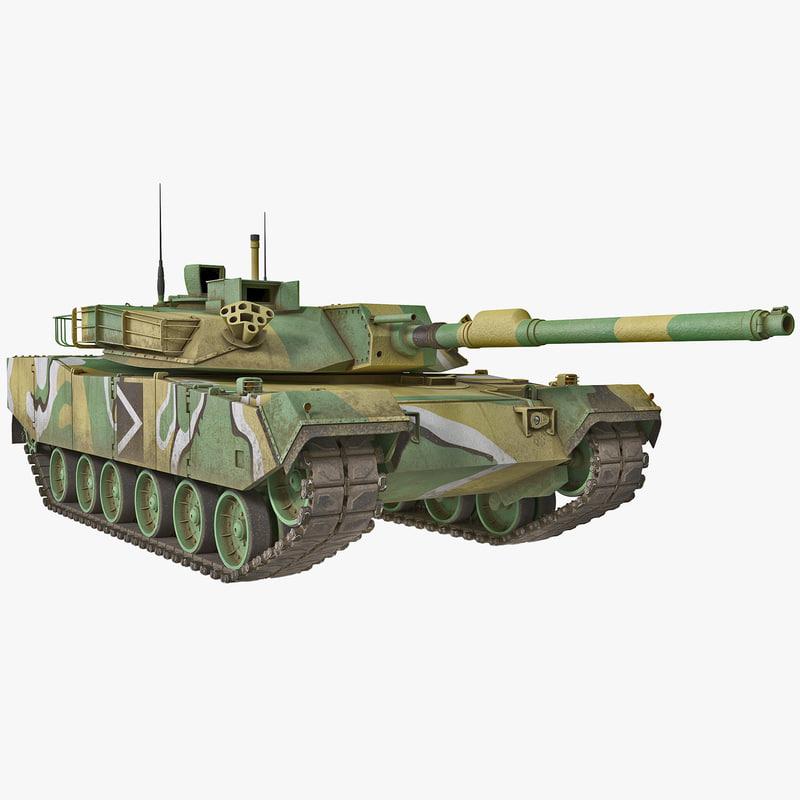 3d max south korean main battle tank