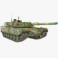 3d max south korean main battle tank