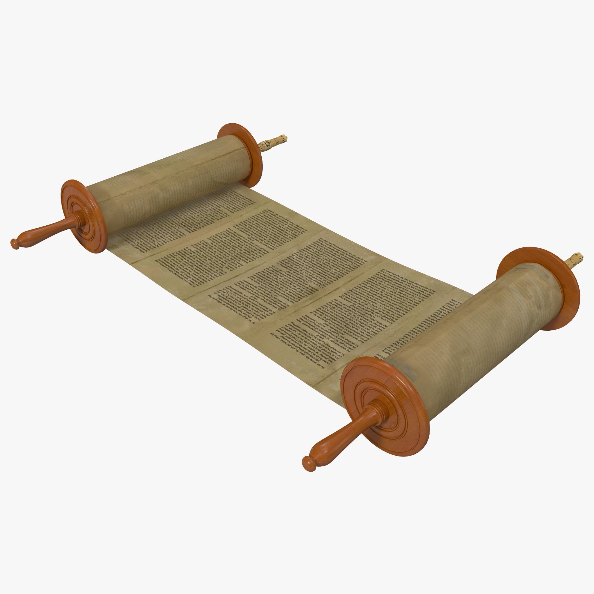 3d model torah scroll 2