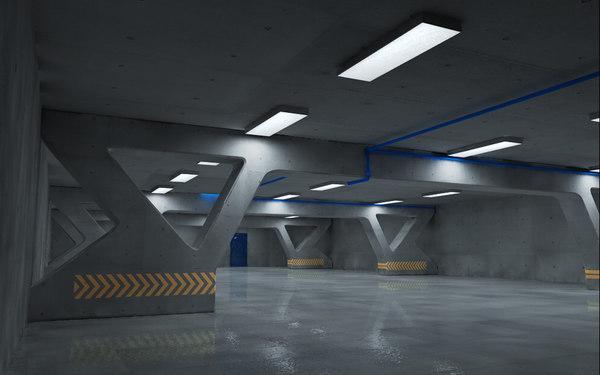 underground parking 3d 3ds