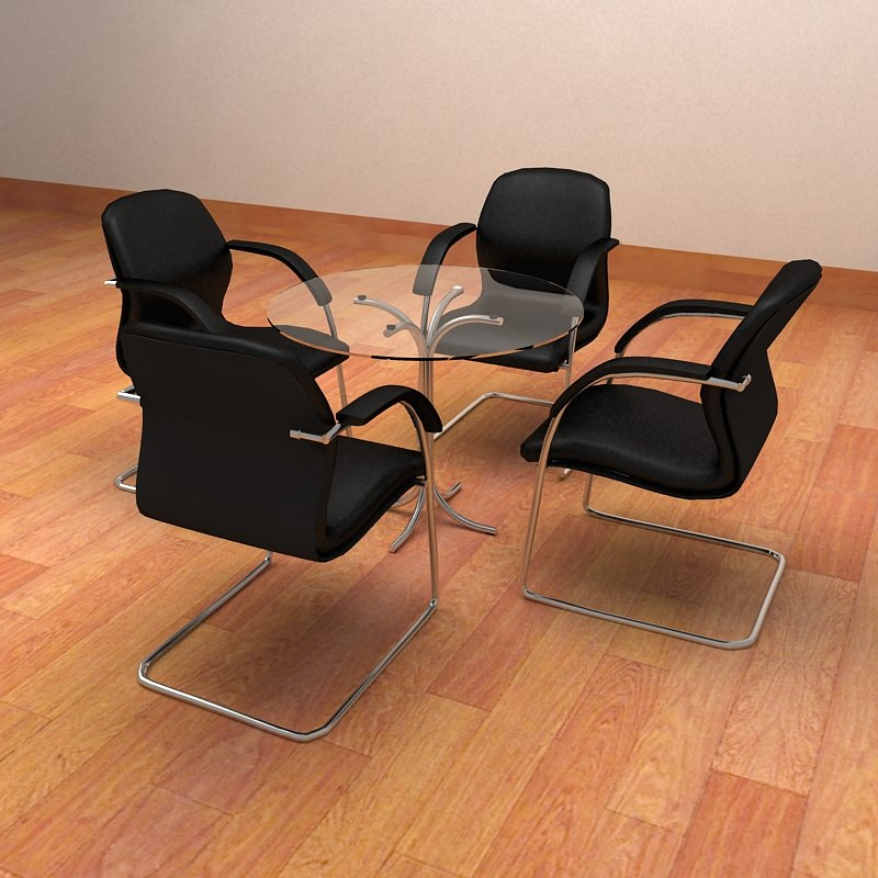3d model realistic meeting chairs