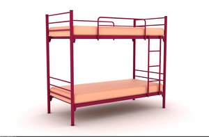 metal frame single bed 3d 3ds