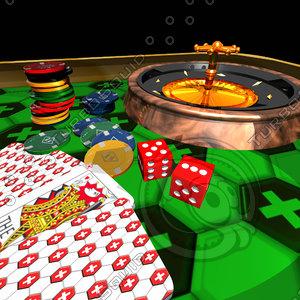 swift poker table 3d model