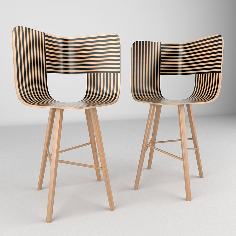 chair realistic 3d obj