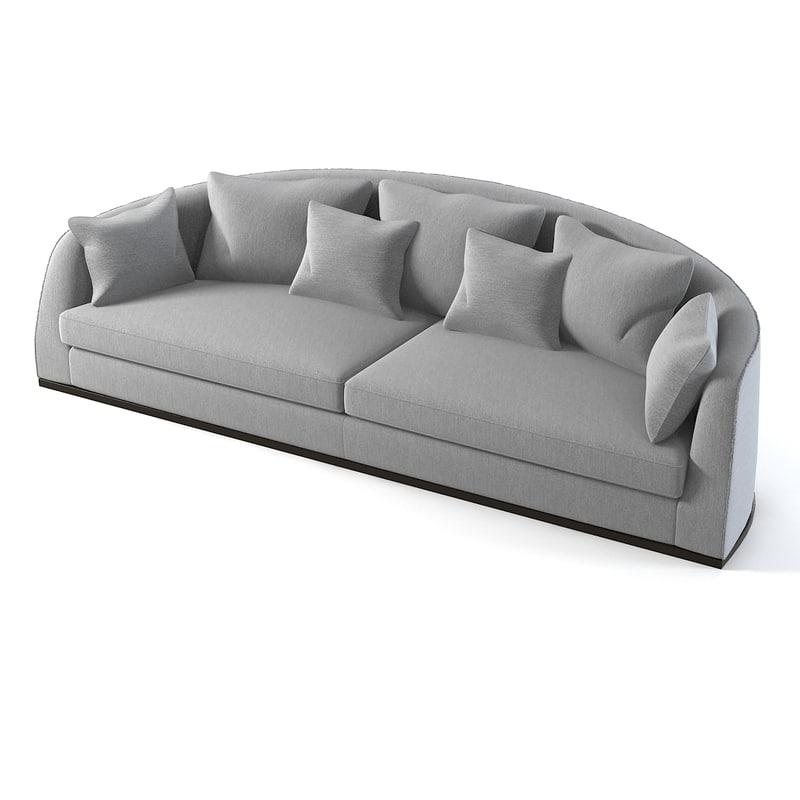 3d model curved sofa flexform