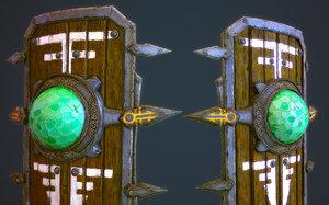 3d model aztec shield