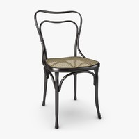 Wooden Chair with Woven Cane Seat