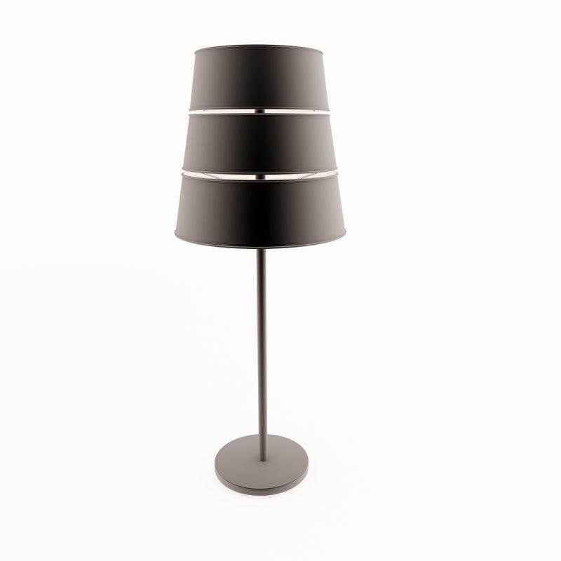 3d black lamp
