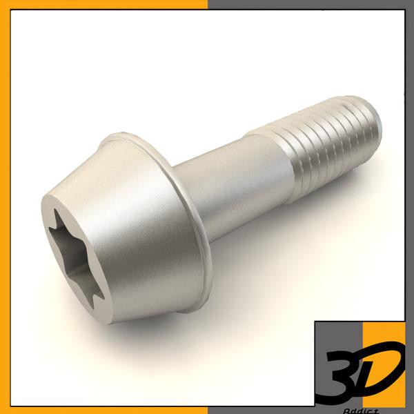 3d button torx bolt