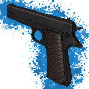3d colt m1911 pistol model