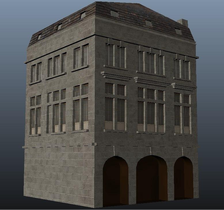 old building obj