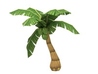 3d model cartoon palm tree