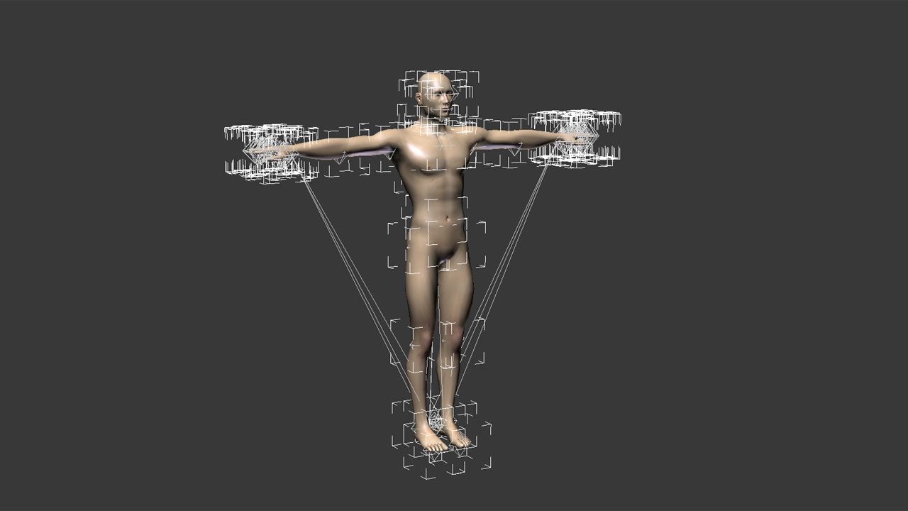 3d rigged male