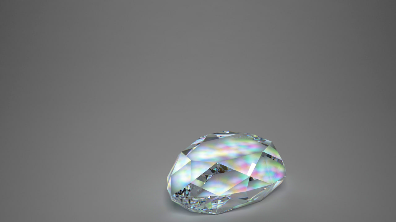 3d diamond pear model
