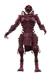 3d model skeleton monster