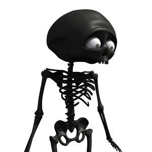 cartoon skeleton 3d 3ds