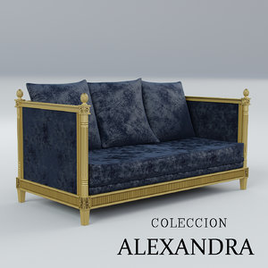 sofa coleccion alexandra 3d 3ds