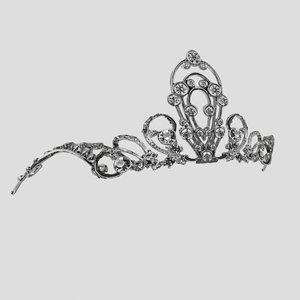 tiara accessory 3d max