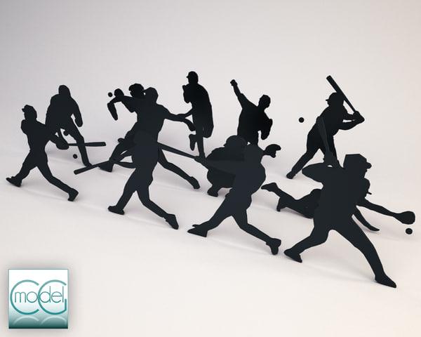 obj silhouette people
