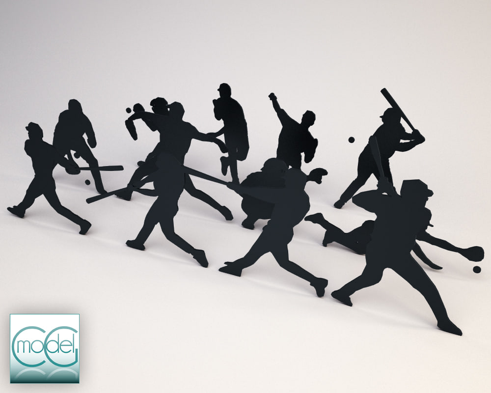obj silhouette people