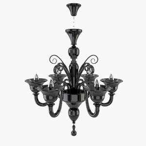 murano chandelier obj