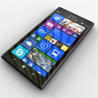 3d model nokia lumia 1520 black
