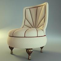 armchair chair bastex perlina 3d model