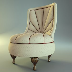 armchair chair bastex perlina 3d model