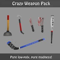 weapons fun zombies 3d model
