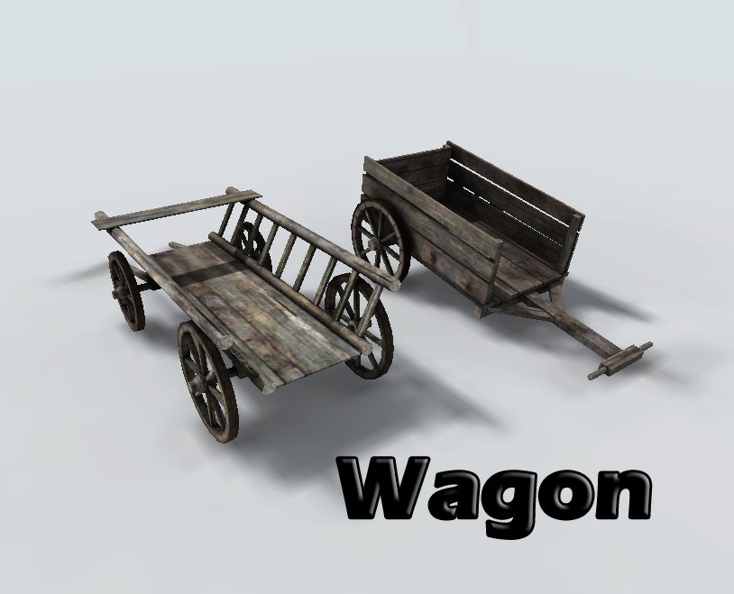 3ds wagon medieval ready