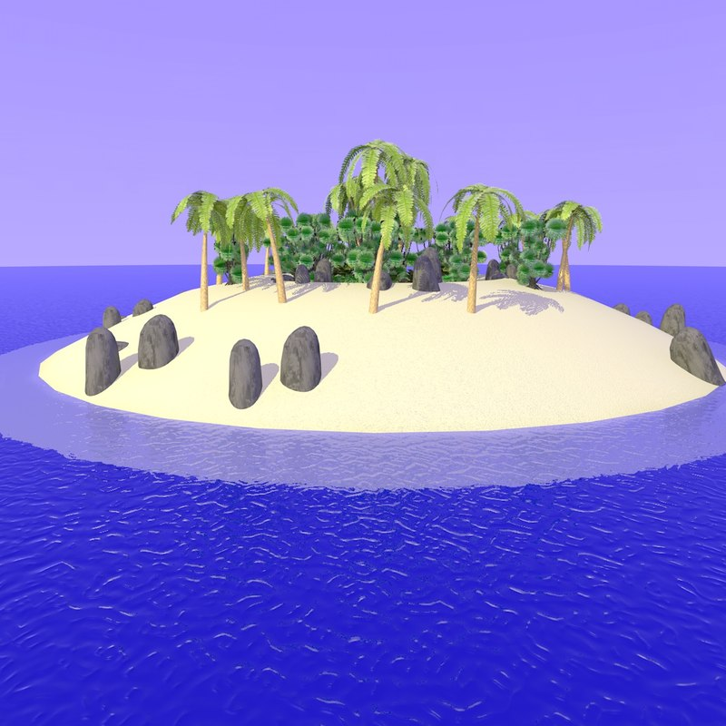 3ds 2nd realistic desert island