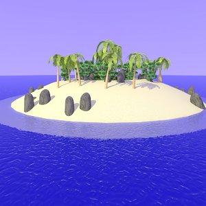 3ds 2nd realistic desert island