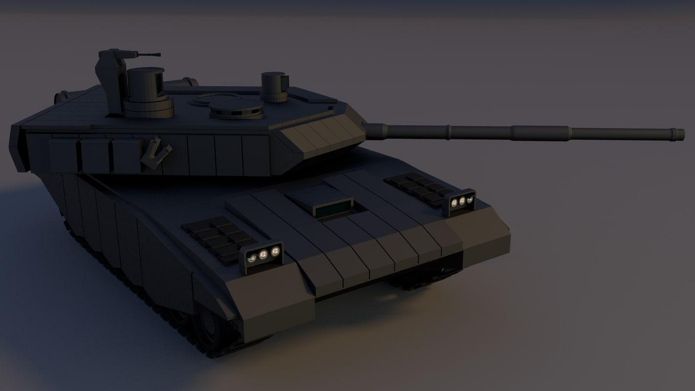 3d model of battle tank main