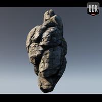 rocky cliff obj