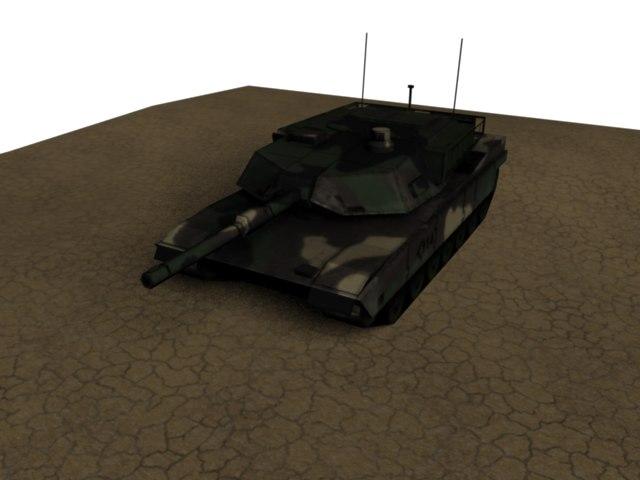3d m1 abrams battle tank