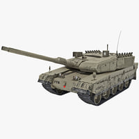 3ds max altay turkish main battle tank