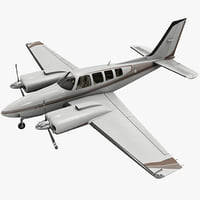 Beechcraft Baron 58 Civil Utility Aircraft Rigged
