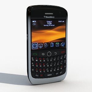 blackberry curve 8900 3d max