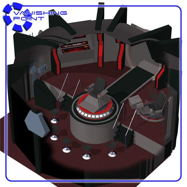 3d starship bridge poser figure model