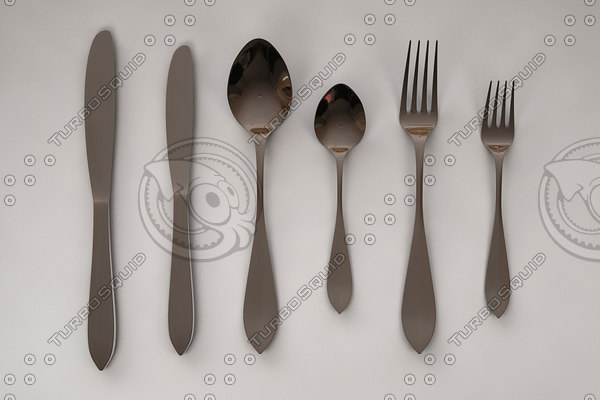 chrome fork sets 3d max