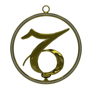 3d zodiac symbol capricornus model