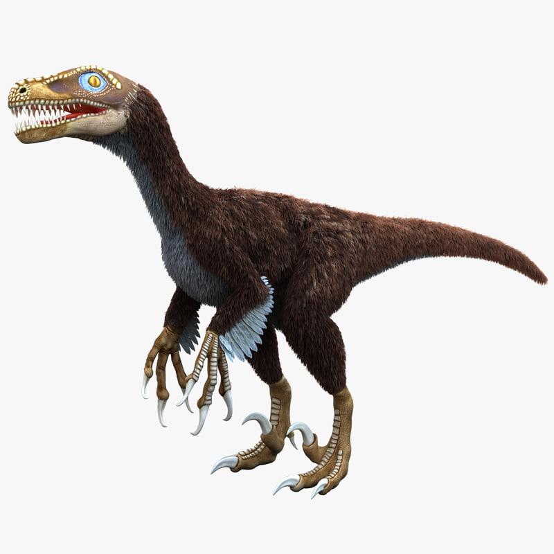 3d dromaeosaurus model