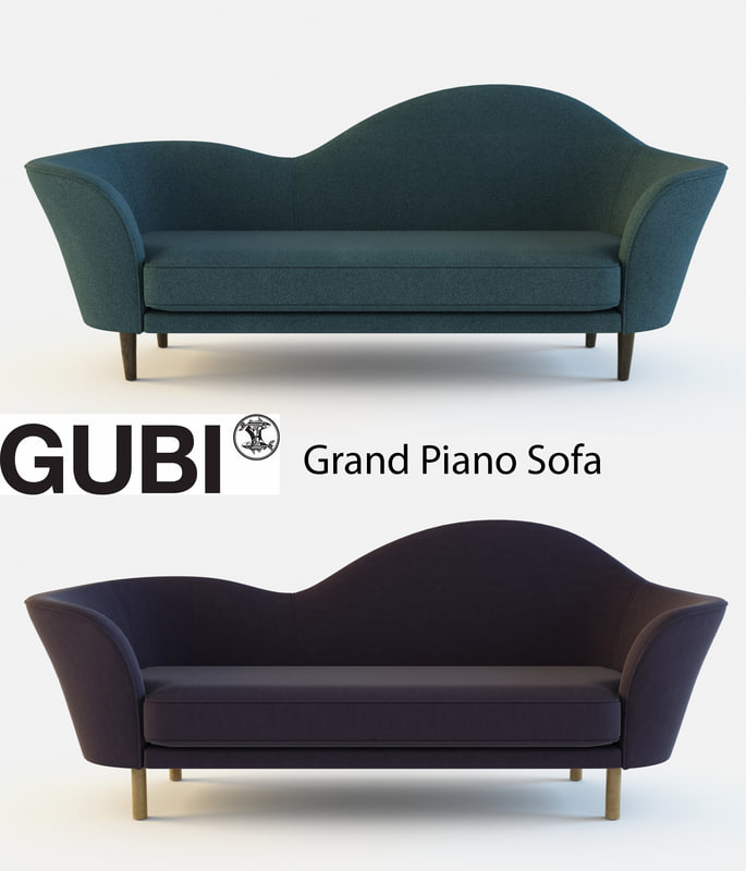 grand piano gubi sofa 3d max