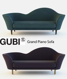 grand piano gubi sofa 3d max